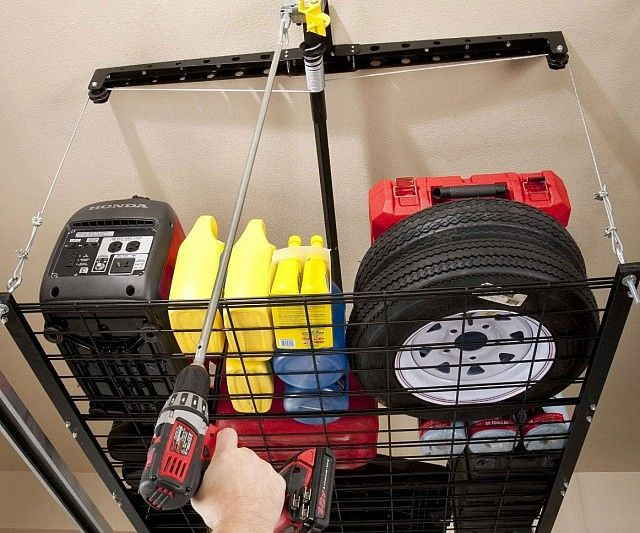 Cable Lifted Storage Rack