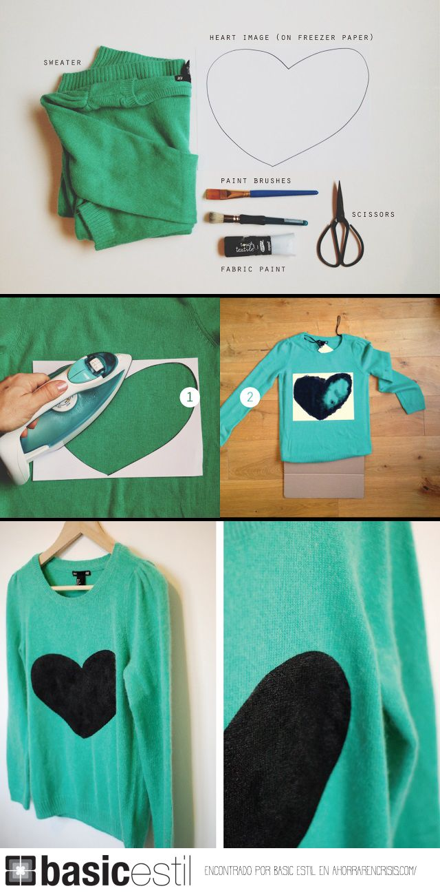 Una idea #DIY para customizar camisetas básicas y otras prendas que podéis encontrar en el shop online Basic Estil.