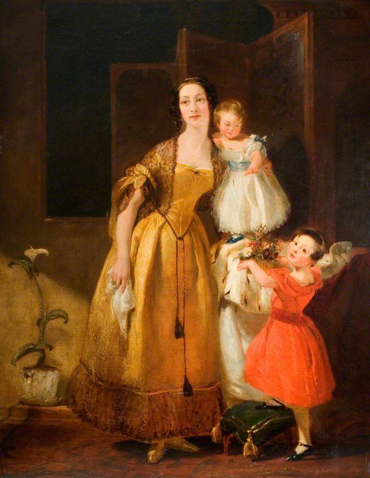 Mrs John Prescott Knight and Her Children - John Prescott Knight - (British: 1803-1881)