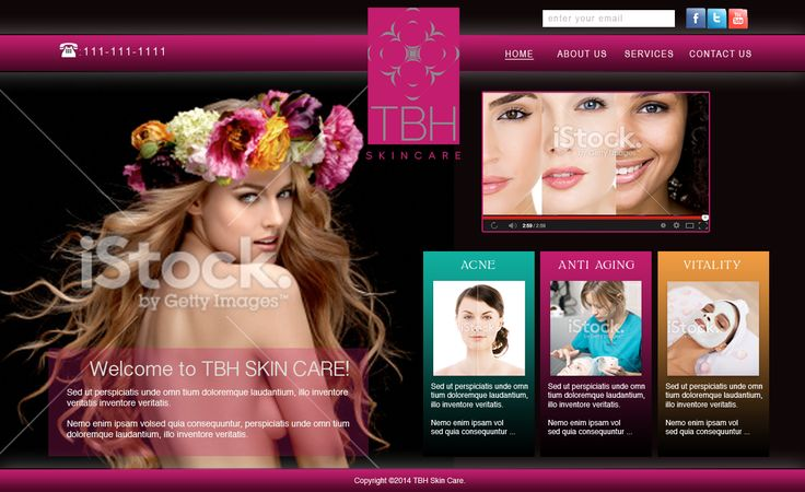 proposed landing page for a beauty product