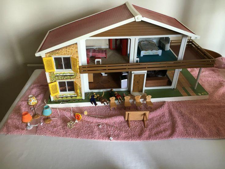 Oak Leaf Vintage Dolls House Furnished with Box | eBay