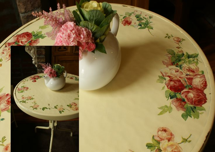 stolik z Jysk po przeróbce