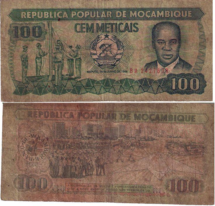 Republica Popular de Moçambique 1986 -   100 Meticais
