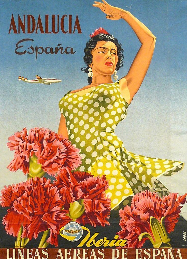 Andalucía - España. - Iberia Líneas Aéreas Españolas - 1959 - (Goros) -