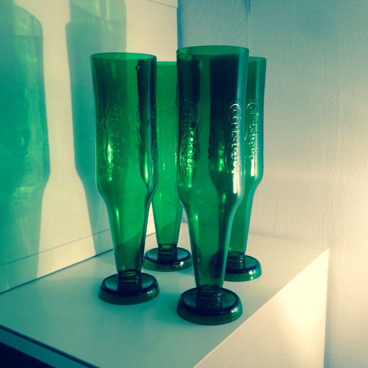 Szklanki z butelek po Carlsberg by Ksieciu Litewski Workshop
