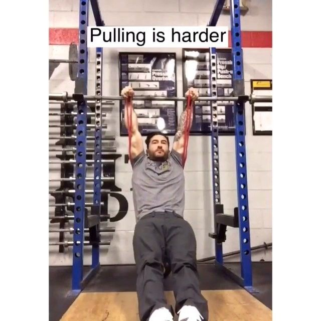 #Repost Team Power Monkey Coach @colinpgeraghty ・・・ FALSE GRIP STRENGTH & STRETCH  Building the false grip is essential for the strict muscle up.  When developed properly, you should be able to hang comfortably with locked out elbows in a false.  If you can't do it with elbows locked out clean, you need to work on it.  Tight/weak wrists are very  common.  This drill incorporates a stretch with the false grip hold.  Holding the bands put the correct part of the wrist in contact with the…