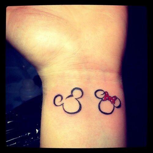 Micky and Minnie Disney wrist Tattoo                                                                                                                                                                                 Plus