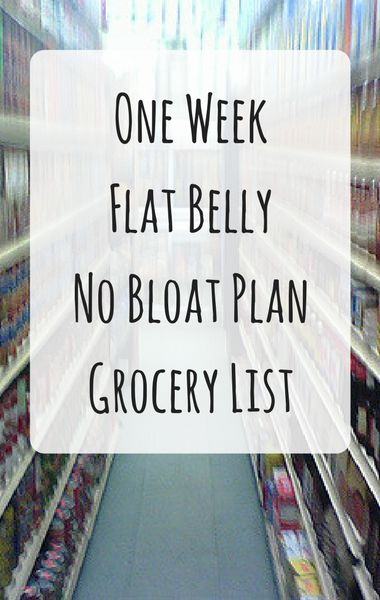 Say goodbye to bloat! Dr Oz revealed his One Week Flat Belly No Bloat Plan and the grocery list that shows you all the food you'll need to eat to see the bloat seemingly disappear!