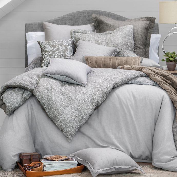 Wamsutta Vintage Paisley Linen Duvet Cover In Grey Bed Bath Beyond Bed Linens Luxury Linen Duvet Covers Bedding Inspiration