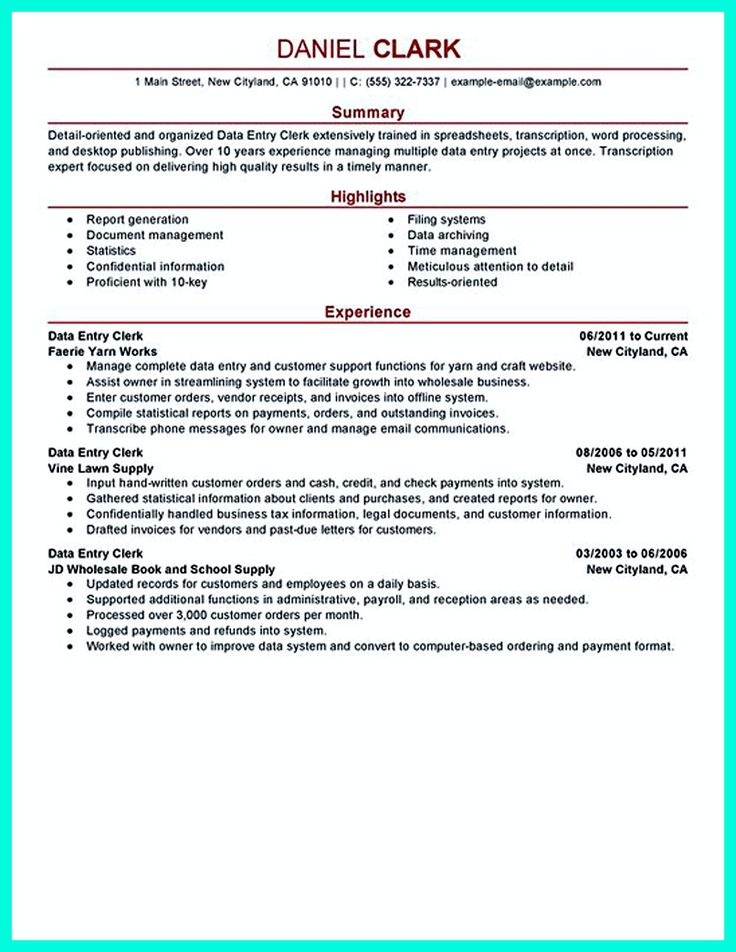 Your data entry resume is the essential marketing key to get the job you seek. The resume including for the data entry specialist resume must be well ... data entry description for resume and data entry resume template