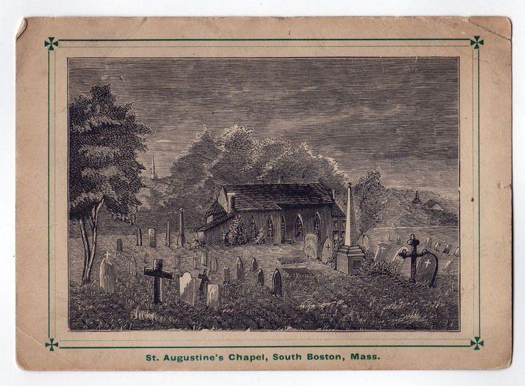 RARE St Augustine's Chapel South Boston Massachusetts Southie Gate of Heaven   eBay