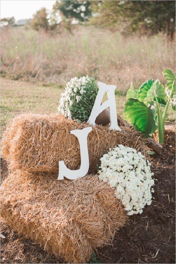 rustic haybale wedding decor ideas / http://www.deerpearlflowers.com/rustic-wedding-details-ideas-you-will-love/2/