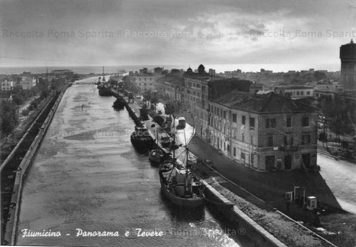 Foto storiche di Roma - Fiumicino Panorama Anno: cartolina viaggiata 1958