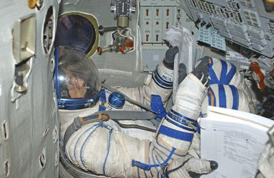 RT in Soyuz simulator