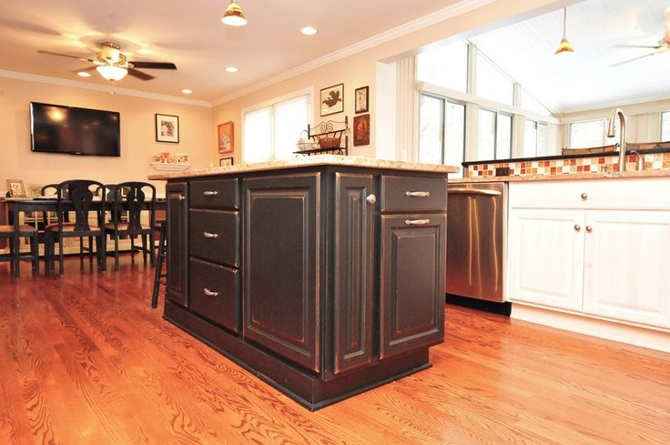 This space features showplace maple with cherry charcoal for 5 x 20 kitchen ideas