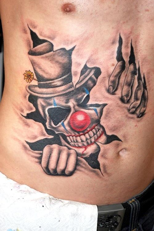 nice clown tatt tattoos pinterest. Black Bedroom Furniture Sets. Home Design Ideas