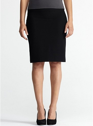 Smart, Chic & Made in the USA - Eileen Fisher Foldover Short Skirt in Washable Stretch Crepe