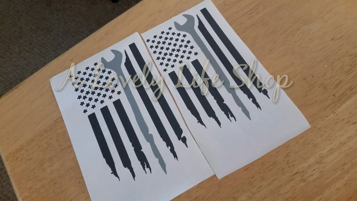 American Flag Decal, Mechanic Decal, Wrench Decal, Car decal, Car sticker, Tool Decal, tools, by ALovelyLifeShop on Etsy