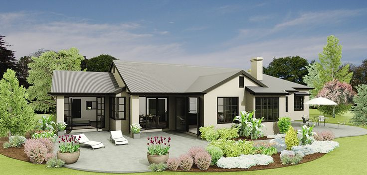 Amberley's traditional stepped design allows for all day sun, yet can be sheltered from East or West depending on site requirements.  The master bedroom is detached from the other bedrooms allowing greater privacy and the lounge area is open plan, yet can be separated from the family, dining and kitchen areas.