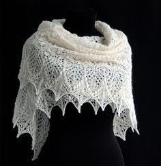 Lovely free lace knitting patterns. This shawl looks amazing, and they say it really isn't as hard as it looks.