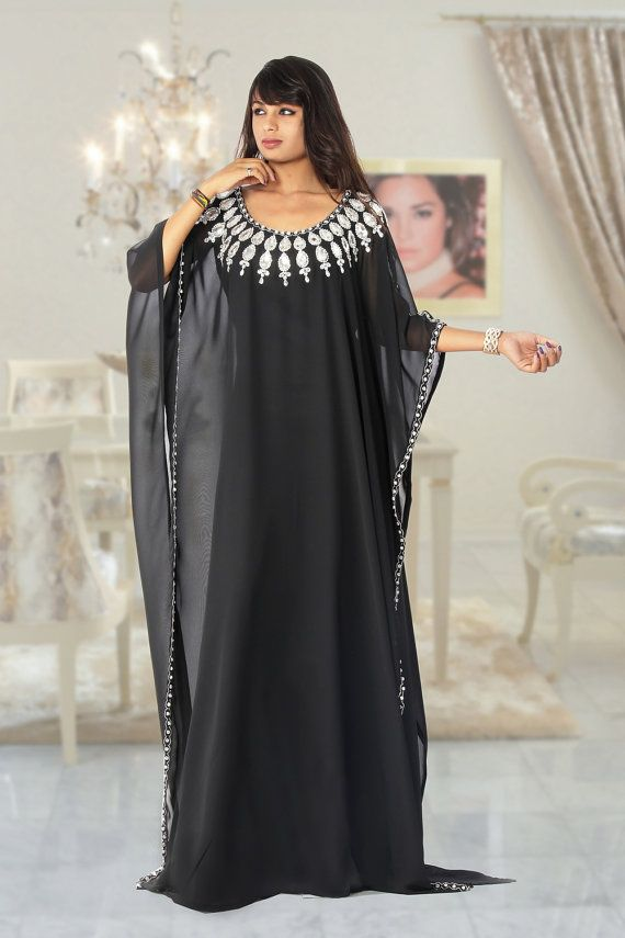 Alabia jalabia dubai fancy kaftan farasha wedding gown beaded chiffon farasha…