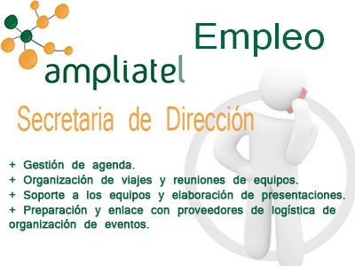 #Empleo Secretaria de Dirección para importante empresa IT