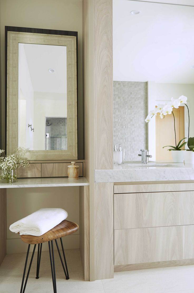 Beautiful White Oak Bathroom Feels So Clean And Fresh, Los Angeles | Stacey Cohen  Design