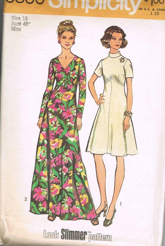 Womens Muster lange oder oberhalb Knie flared Kleid Schlanker aussehen. Das Kleid mit ausgestellte Rock genäht, geformte Mieder über normale