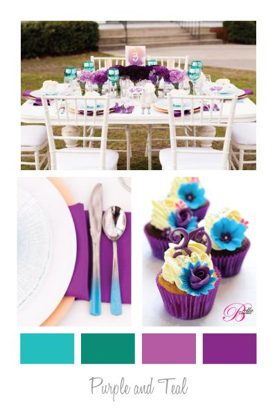Colour Palettes - Purple and Teal
