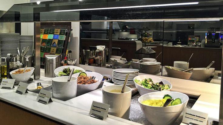 Lufthansa Senator Lounge Frankfurt A Plus Buffet Essen