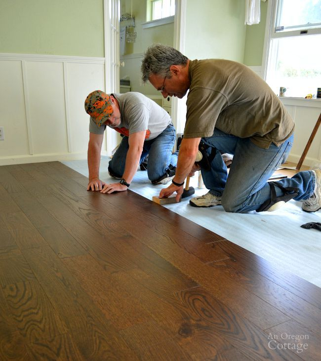 Laying an engineered hardwood floating floor