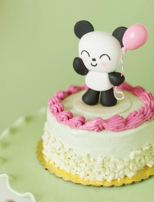 Panda cake topper for an adorable Kawaii Love Birthday Party!