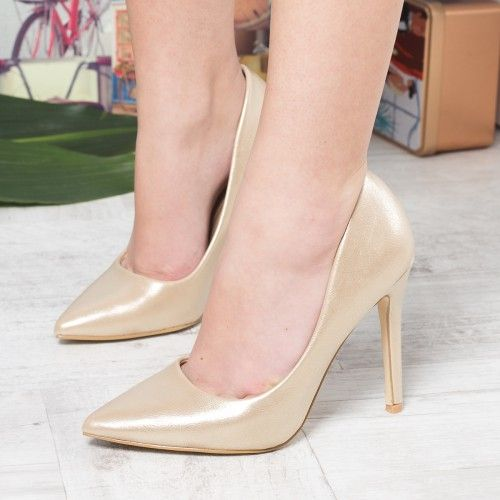 Promotie • Pantofi dama Isabelle aurii cu toc
