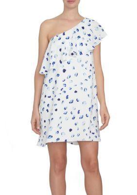 Cece Women's Floating Petal One Shoulder Dress - New Ivory - 10