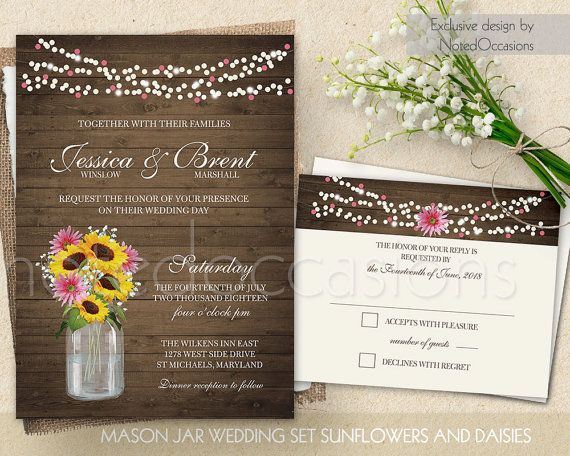 Free Template For A Mason Jar Invitation Perfect For A
