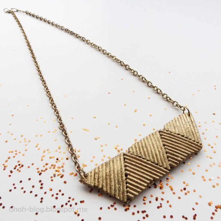 Ohoh Blog - diy and crafts: Pasta necklace / Collar