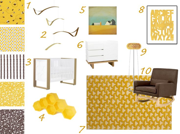 My Modern Nursery 35 Bumblebee Honey Bee Theme Expensive