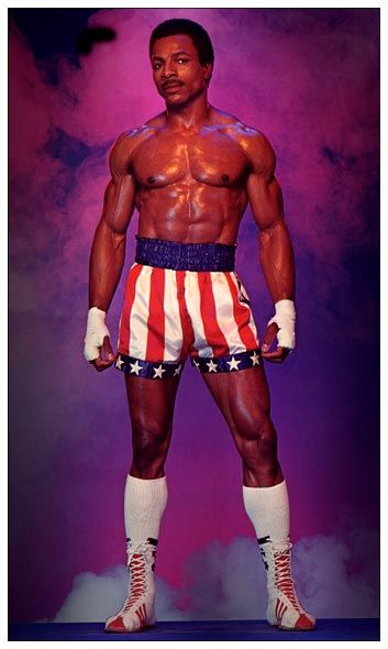 mickey dees | Carl Weathers as Apollo Creed.