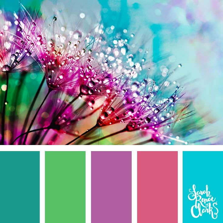 Spring mood board | 25 color palettes inspired by the PANTONE color trend predictions for Spring 2018 - Use these color schemes as inspiration for your next colorful project! Find more color palettes, mood boards and schemes at www.sarahrenaeclark.com #color #colorpalette