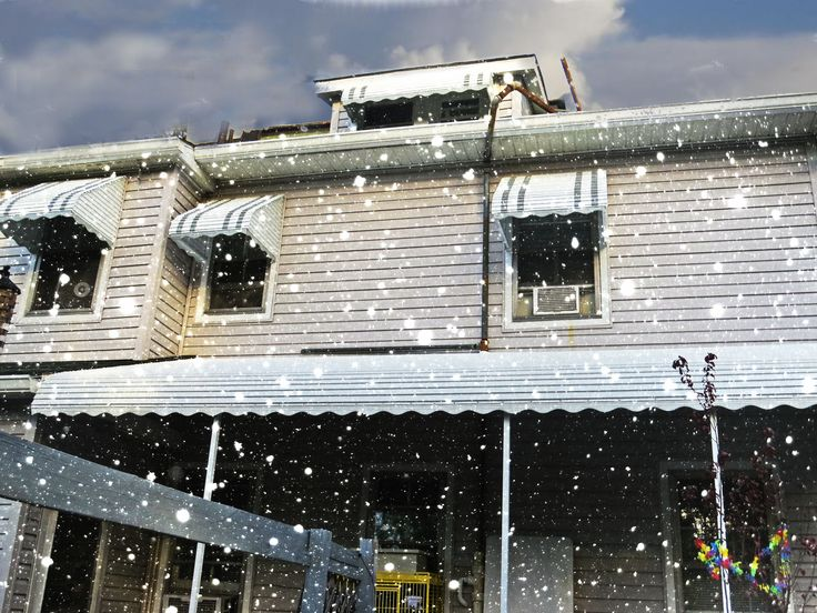 Aluminum Porch Awning Baltimore When Its Snowing Outside You Will Be Glad Have A