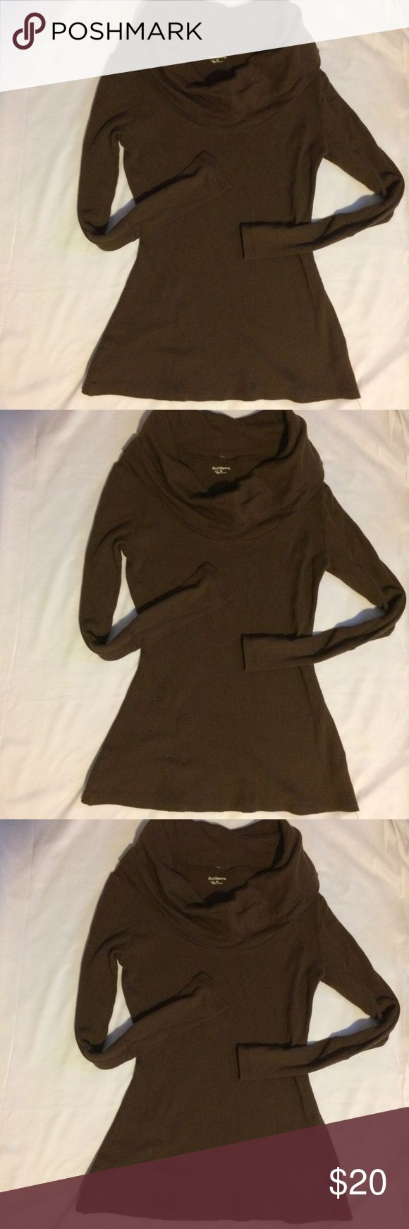 Ruff Hewn Turtleneck Sz M Brown Cow Neck Women's Top Preowned Great Condition Ruff Hewn Tops