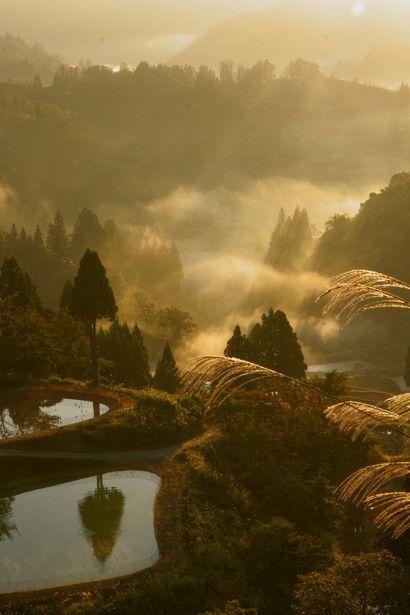 pictures of countryside in japan   ... splendor of Japanese countryside! Yamakoshi village, Niigata, Japan