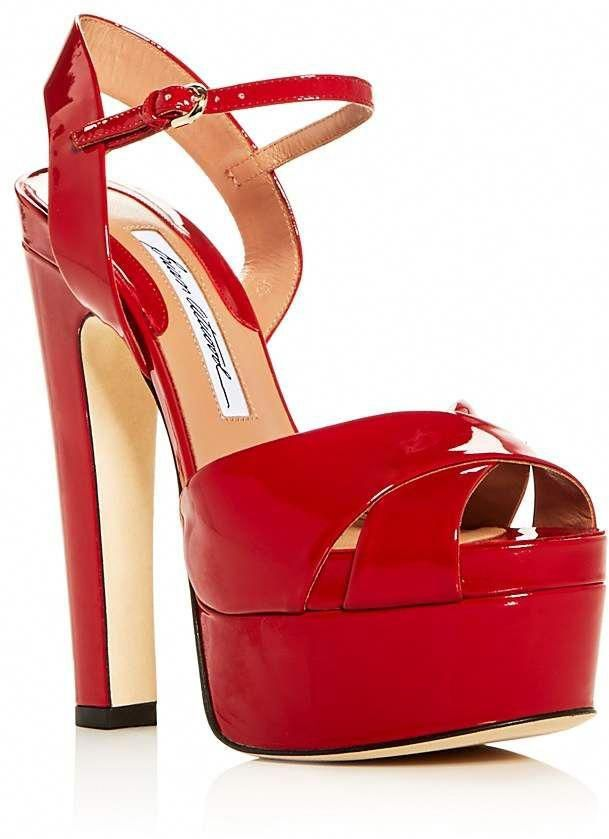 722f53dcd08 Brian Atwood Women s Madison Patent Leather High-Heel Platform Sandals