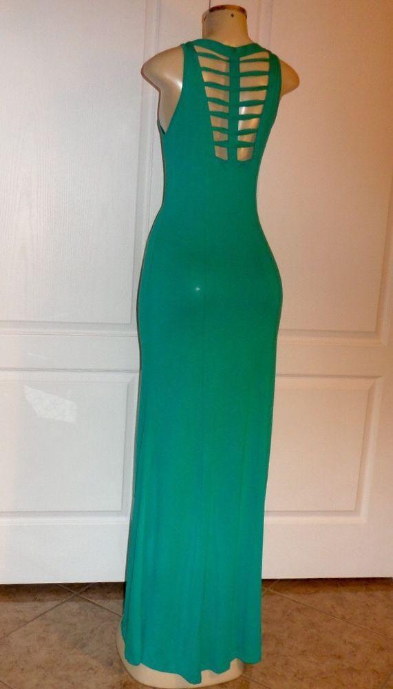 Green v neck maxi dress