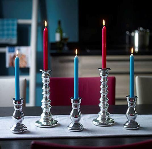 Ook in de keuken kunnen kandelaars en kaarsen worden toegepast.