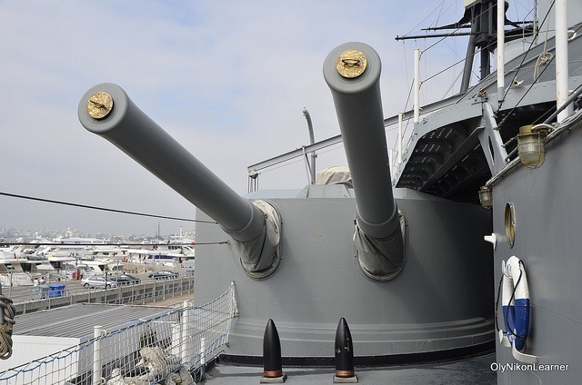 Greek armored cruiser Averof - port aft main armament gun turret.