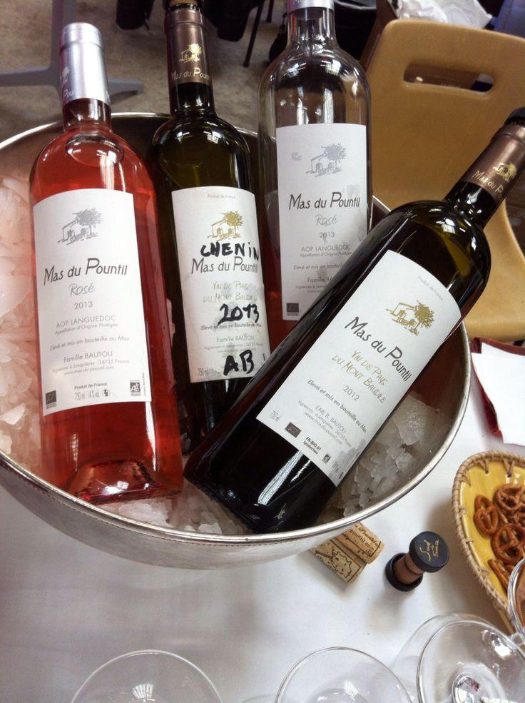 Les vins du Mas du Pountil en Languedoc, quelle gourmandise ! #vins #languedoc #mas #pountil #languedoc #blanc #rouge #rose #vignobles #bouchons #bouteilles #verres #bretzels #chenin #caveosaveurs
