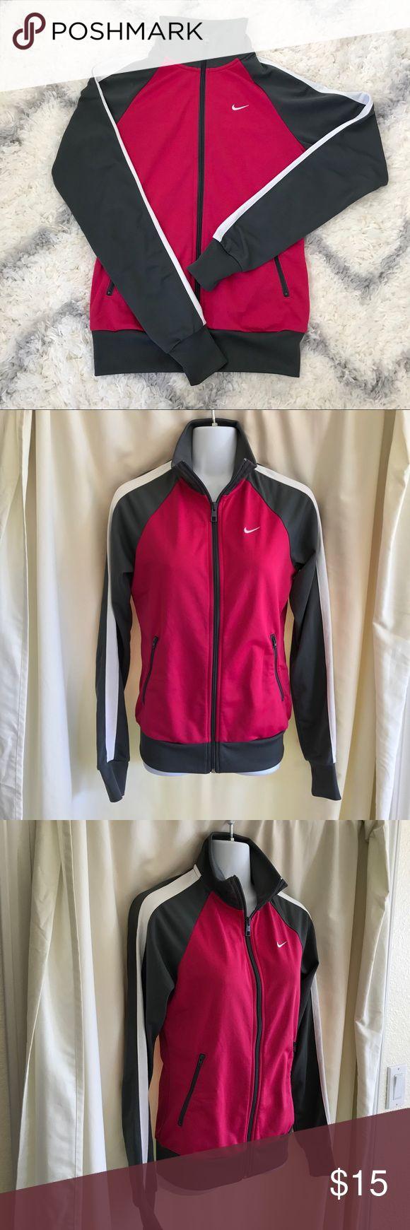 Nike running jacket  (bin:o) Pink, gray & white Nike Running jacket size S Nike Jackets & Coats