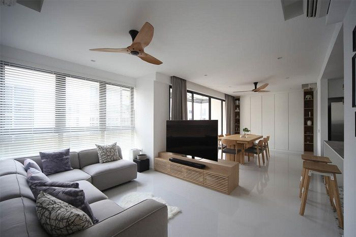 24 Scandinavian Style Hdb Flats And Condos To Inspire You The Singapore Women S Weekly Condo Interior Design Living Room Scandinavian Condo Interior
