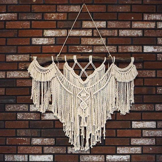 Large 35 Macrame Wall Hanging // tapestry // macrame